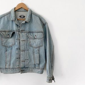 levis • vintage light wash silver tab denim jacket
